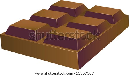 Chunky Chocolate Squares (VECTOR) - stock vector
