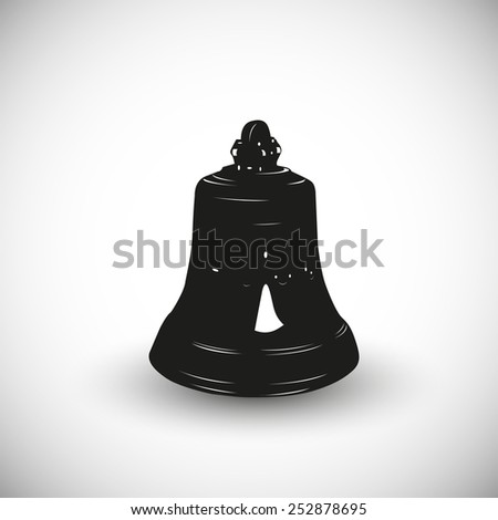 Church bell illustration - 3d view design. - stock vector