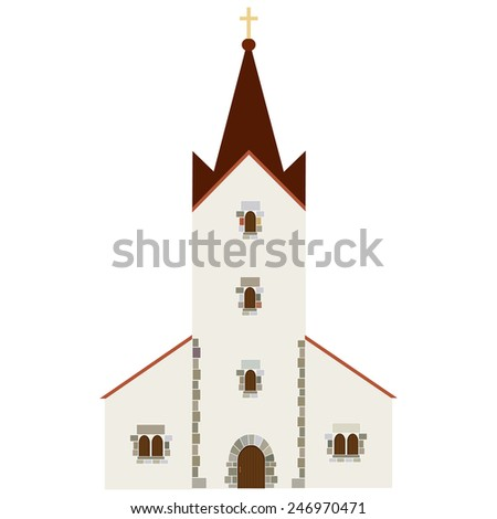 Church building vector icon, wedding chapel, christianity  catholic - stock vector