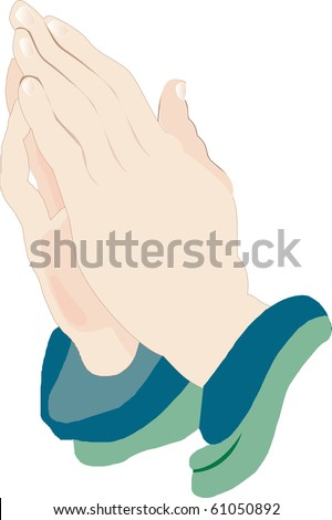 Church Icons Vector, Illustration of Praying Hands Icon 2. - stock vector