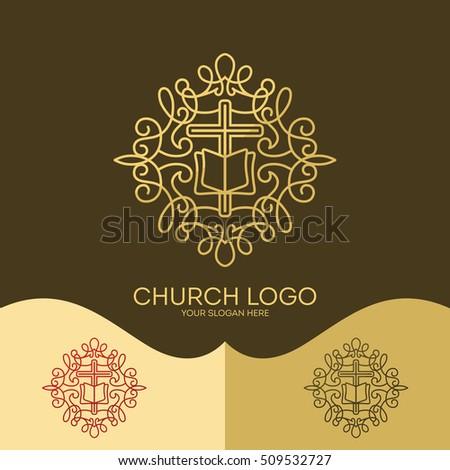 Church Logo Christian Symbols Cross Jesus Stock Vector 509532727