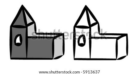 Church vector - stock vector