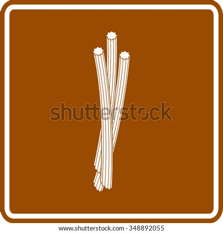 churros sign - stock vector