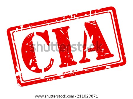 Cia red stamp text on white - stock vector