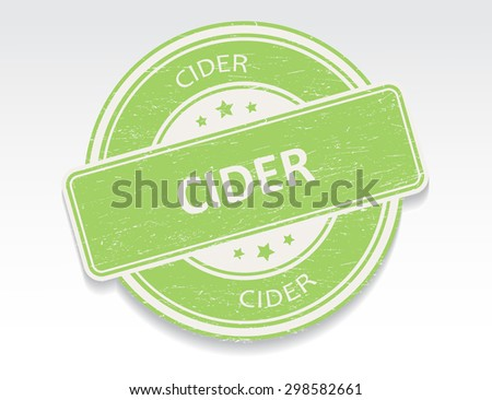 Cider rubber stamp.Cider grunge stamp.Vector illustration.