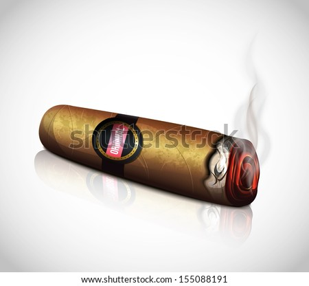 Cigar - stock vector