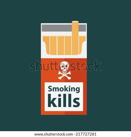 cigarette box icon 1 - stock vector