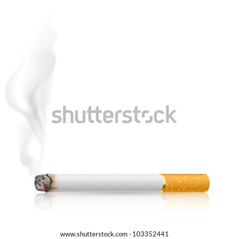 Cigarette burns. Illustration on white background. - stock vector
