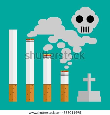 cigarette effect  - stock vector