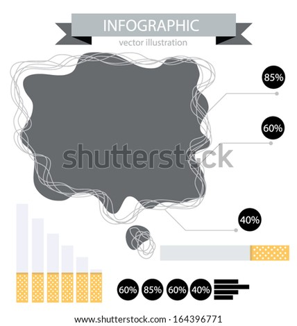 cigarette. infographic. vector Illustration. - stock vector