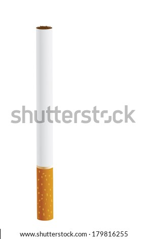 Cigarette isolated on a white background - stock vector