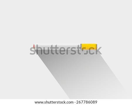 Cigarette long shadow  - stock vector