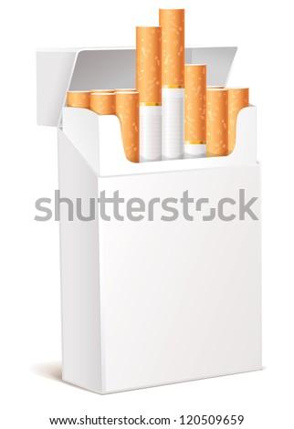 Cigarette pack 3d. Isolated on white background. Vector illustration eps 10 - stock vector