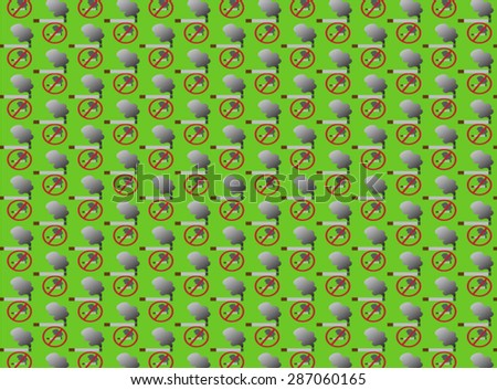 Cigarette smoking is used as a pattern and background  - stock vector