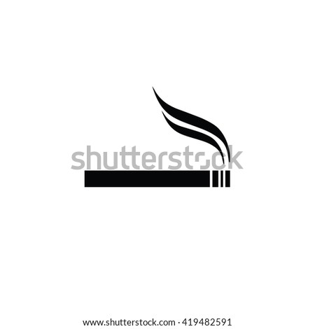 Cigarette vector icon. Allowed smoking sign - stock vector