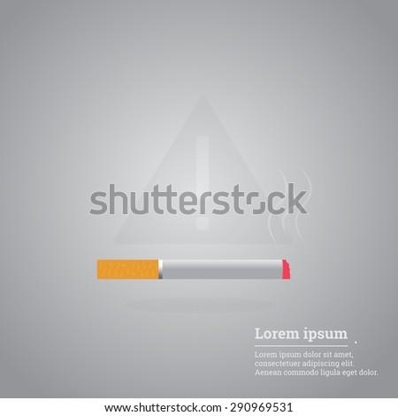 Cigarette vector icon illustration. Smoking symbol. - stock vector