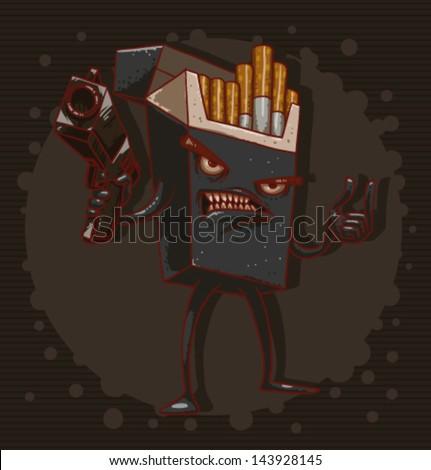 Cigarettes are killing 04, vector - stock vector