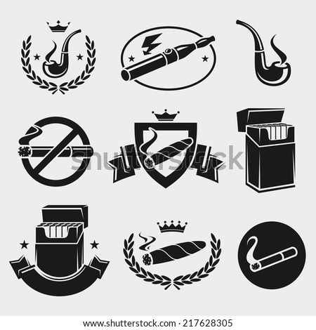 Cigarettes set. Vector  - stock vector
