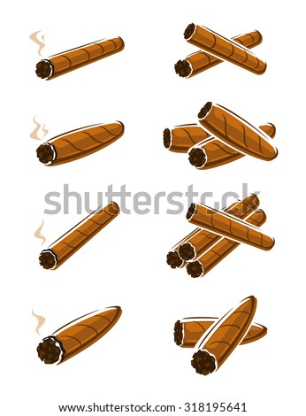 Cigars set. Vector - stock vector