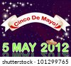 Cinco de Mayo background with a banner against the sparkling lights. 10 EPS. Vector illustration. - stock vector
