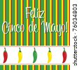 Cinco de Mayo chili pepper greeting cards in vector format. - stock vector