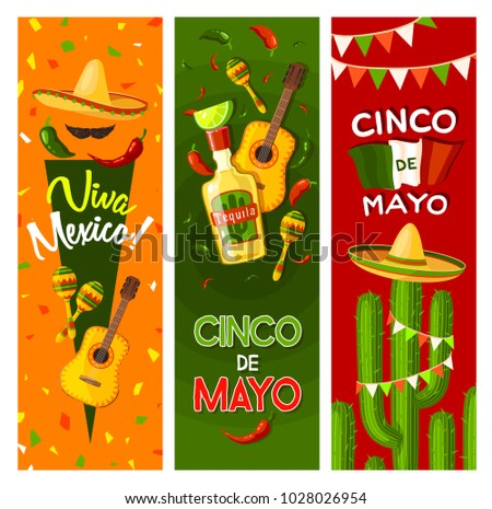 Cinco de mayo fiesta party greeting stock vector hd royalty free cinco de mayo fiesta party greeting banner for mexican holiday celebration flag of mexico m4hsunfo