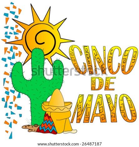 Cinco De Mayo graphic. - stock vector
