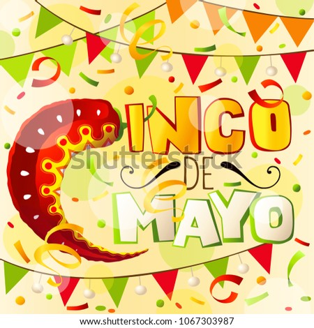 Cinco de mayo greeting card mexican stock vector 1067303987 cinco de mayo greeting card mexican holiday abstract background m4hsunfo