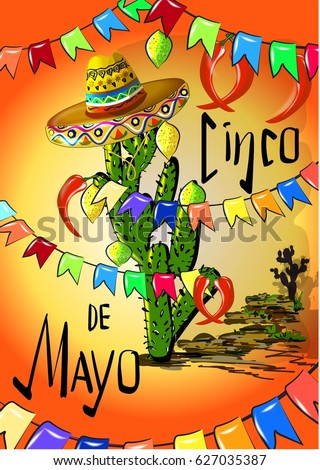 Cinco de mayo greetings stock vector 627035387 shutterstock cinco de mayo greetings m4hsunfo