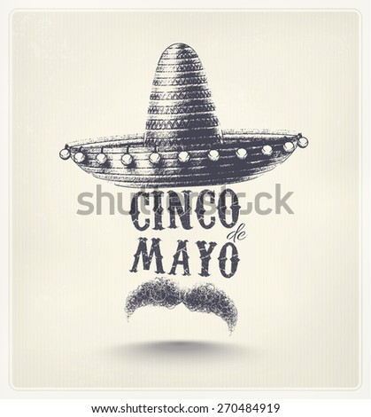 Cinco De Mayo, holiday poster, eps 10 - stock vector