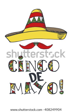 Cinco de mayo lettering greeting cardmexico stock vector 408249904 cinco de mayo lettering greeting cardxico vectordoodle handwritten wordstitles calligraphy m4hsunfo Image collections