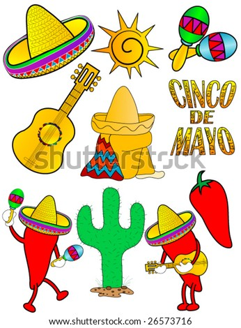 Cinco de Mayo vector. - stock vector