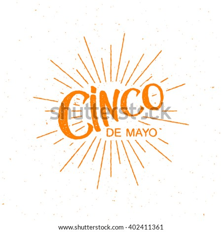 Cinco de Mayo vector illustration. 5 of May holiday vector. Cinco de Mayo holiday banner.  Cinco de Mayo holiday lettering. Cinco de Mayo handwritten illustration - stock vector