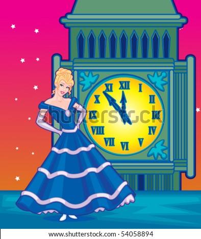 Cinderella Princess - stock vector