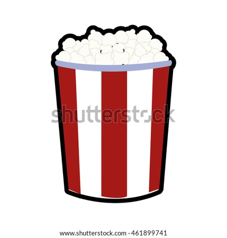 Cinema and food concept represented by pop corn icon. Isolated and flat illustration