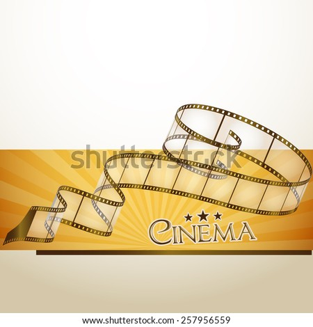 cinema background - stock vector