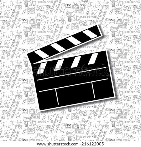 Cinema background. Vector illustration. - stock vector