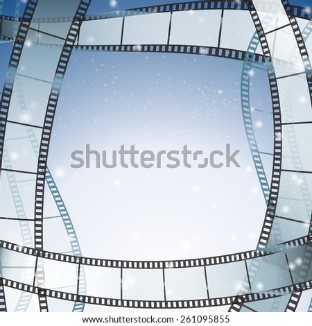 cinema background with filmstrip as borders - stock vector