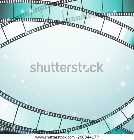 cinema background with retro filmstrip and stars as borders - stock vector