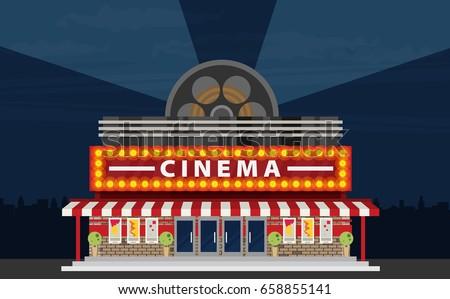 Cartoon Movie Theater | www.pixshark.com - Images ...  Cinema Building Cartoon