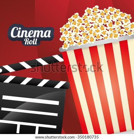 Cinema  concept  with movie icons design, vector illustration 10 eps graphic.