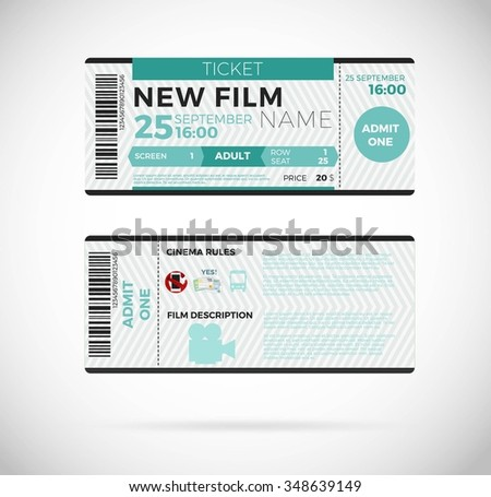 Cinema concept with ticket icons design, vector illustration 10 eps graphic. - stock vector