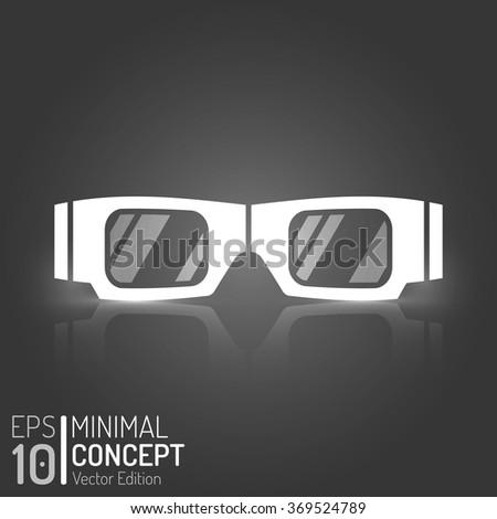 Cinema 3D Glasses Design. Vector Elements. Minimal Isolated Glasses Illustration. EPS10 - stock vector