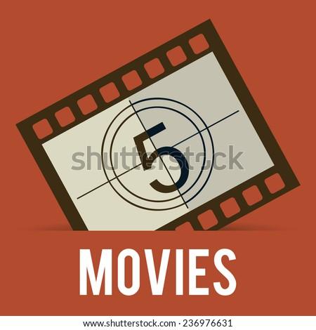 cinema design - stock vector