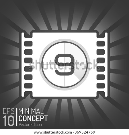 Cinema Film Tape Design. Vector Elements. Minimal Isolated Film Illustration. EPS10 - stock vector