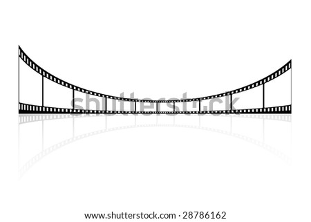 Cinema filmstrip. Abstract background. Illustration. - stock vector