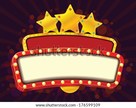 Cinema gold banner - stock vector