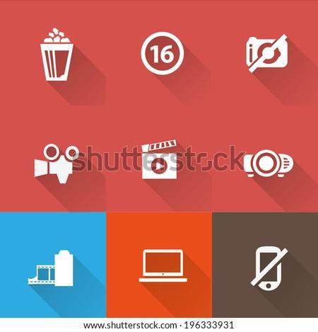 Cinema icon set 2 - stock vector