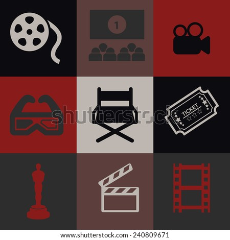 Cinema Icons Pack - stock vector