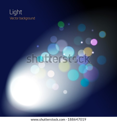 cinema lens blur space - abstract background design - vector - stock vector